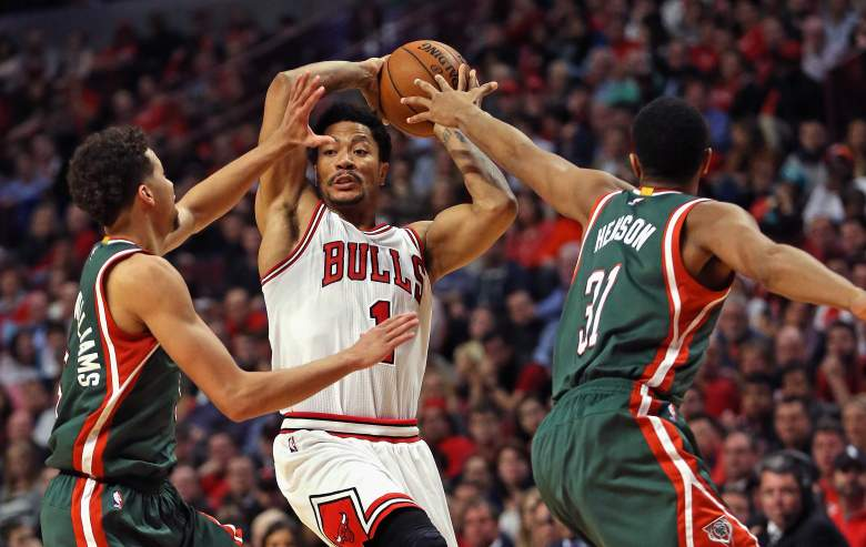 After going down 3-0, the Milwaukee Bucks have won 2 straight from Derrick Rose and the Chicago Bulls. Game 6 is Thursday night. (Getty)