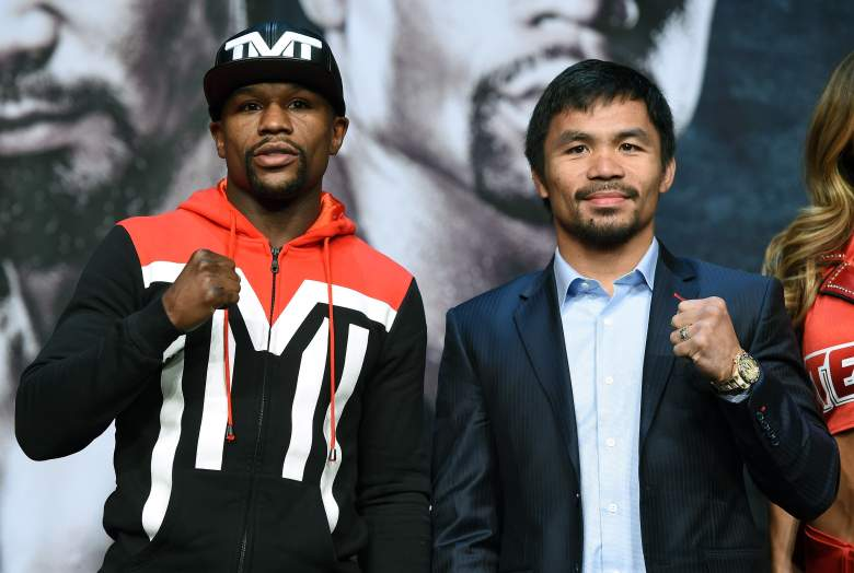 Floyd Mayweather is the favorite over Manny Pacquiao for their Saturday night fight. (Getty)
