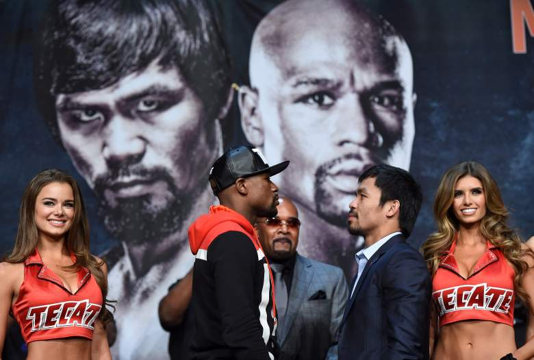 Manny Pacquiao and Floyd Mayweather finally meet in the ring Saturday night. (Getty)