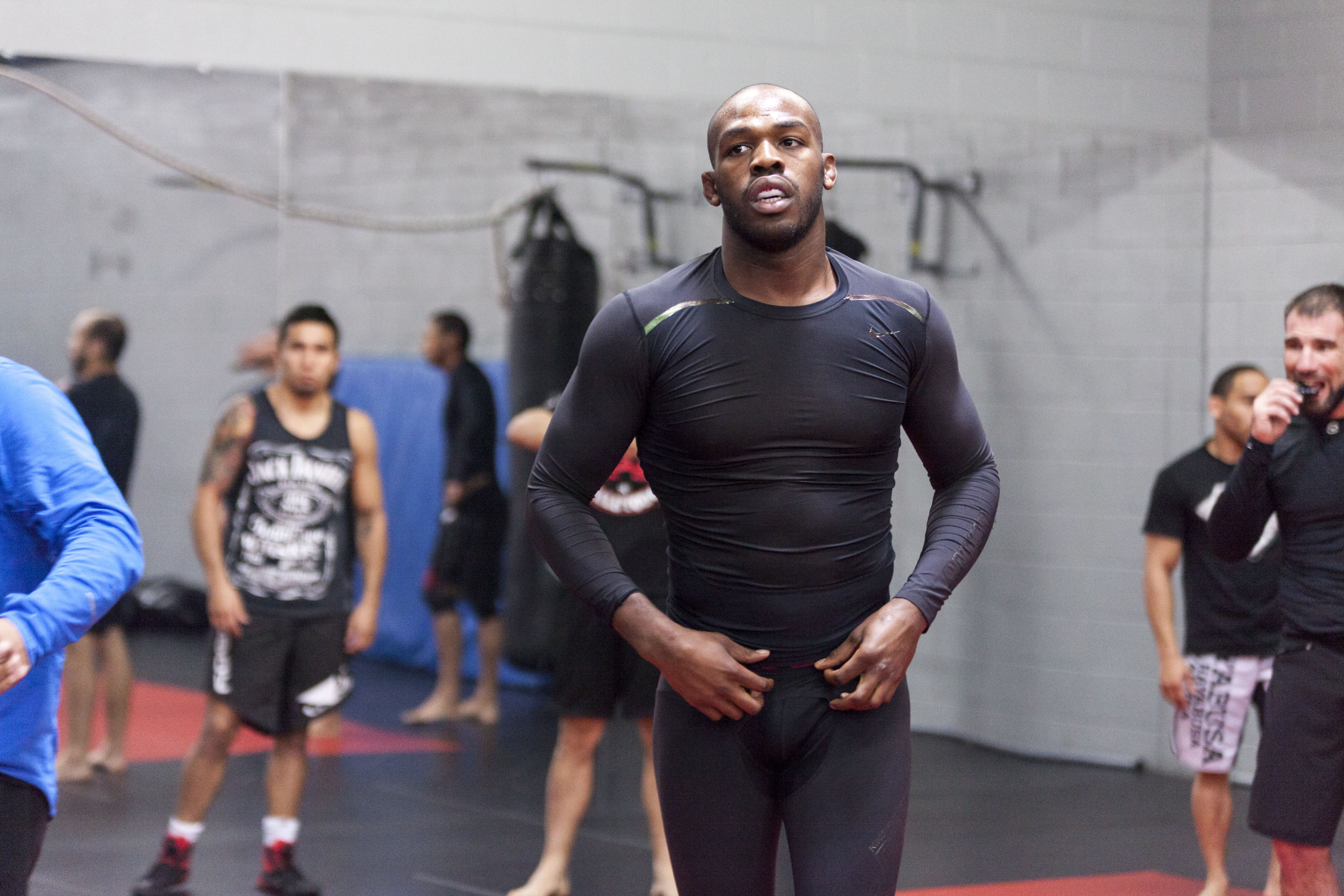 Jon Jones at a training session in 2014. (Getty)