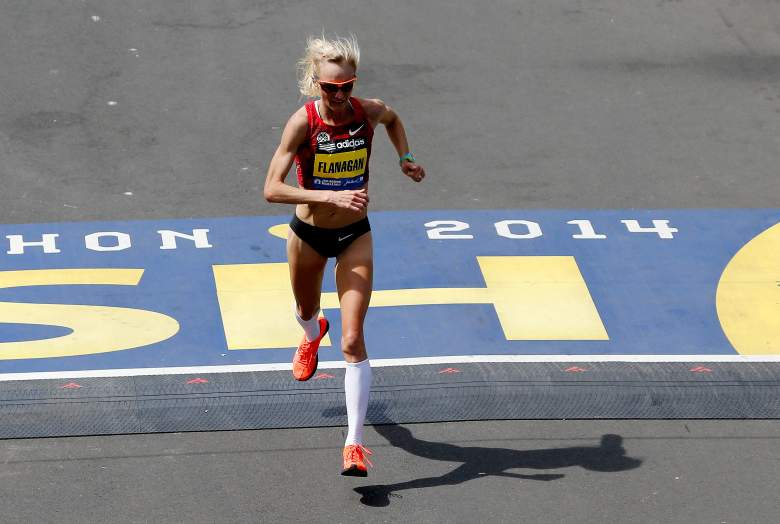 The United States' Shalane Flanagan finished 7th in last year's women's elite race at the Boston Marathon. (Getty)