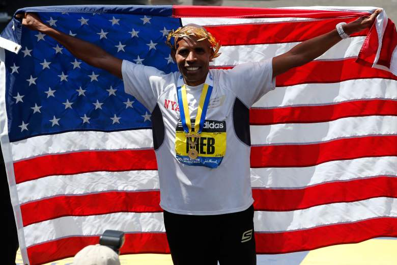 Meb Keflezighi is looking to repeat as the Boston Marathon men's champion. (Getty)
