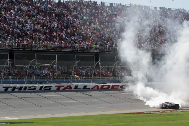 Denny Hamlin won last year's spring race at Talladega. (Getty)