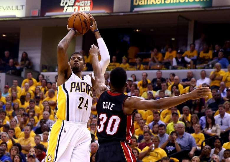 After missing 76 games, Paul George returns for Indiana. (Getty)