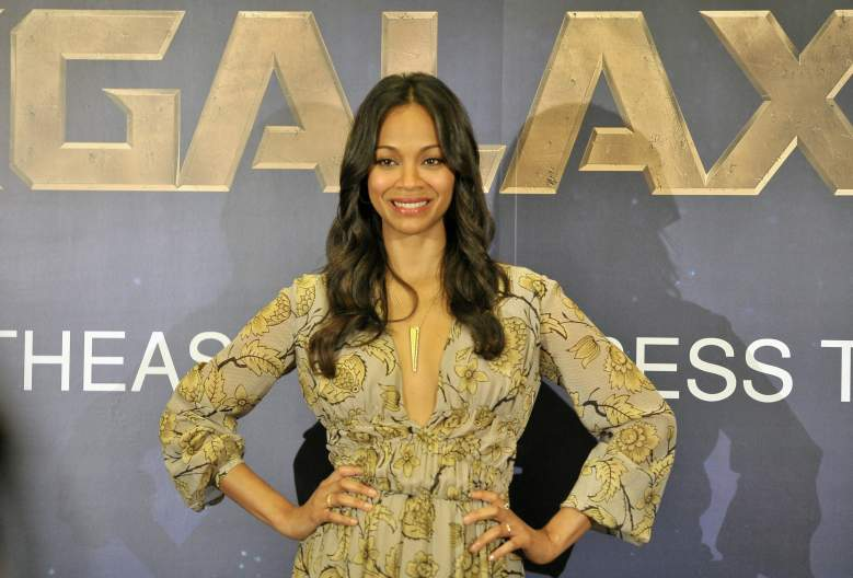 Zoe Saldana at the premiere of Guardians of the Galaxy. (Getty)