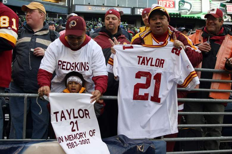 Washington Redskins fans remember Sean Taylor shortly after his tragic November 2007 death. Getty)