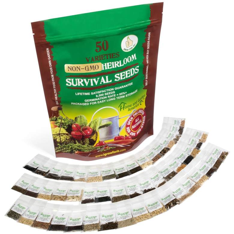 Heirloom Seeds Non-GMO Vegetable Seed Kit - 50 Varieties 100% Natural Non-Hybrid - Best For Gardeners Who Want to Raise Their Own Healthy Food - You Can Grow Fresh Tasty Vegetables Even As a Beginner