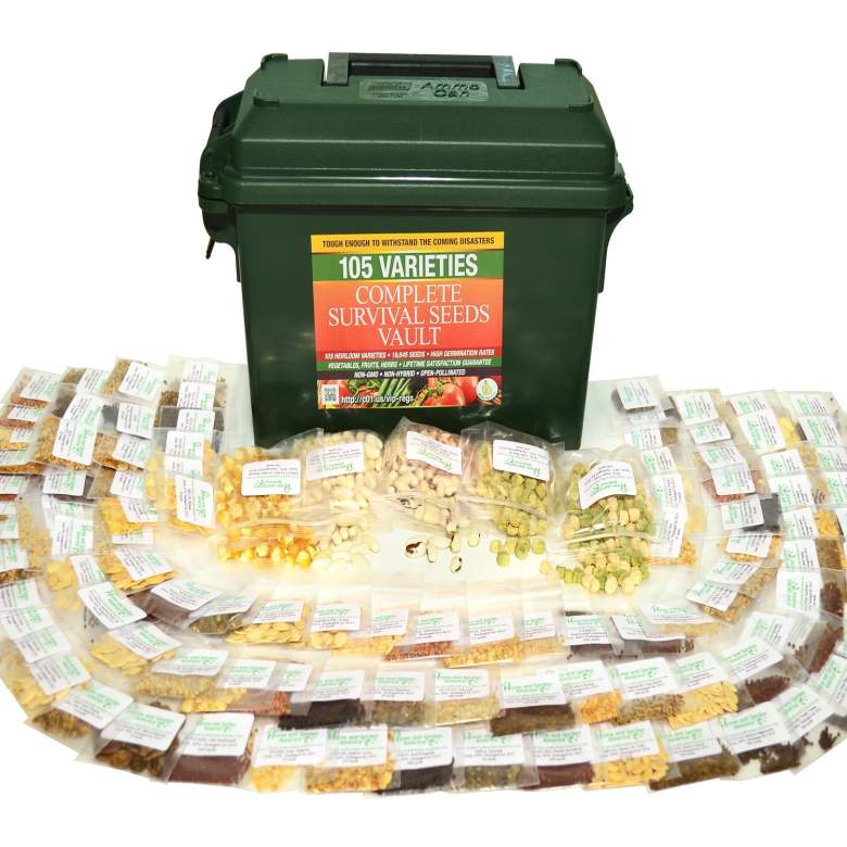 Grow For It Survival Seed Bank With 105 Varieties