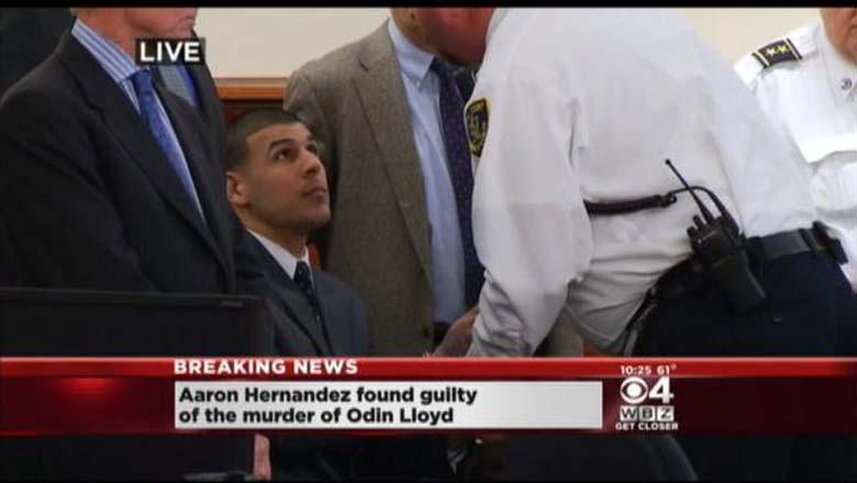 Aaron Hernandez Cuffed in Court