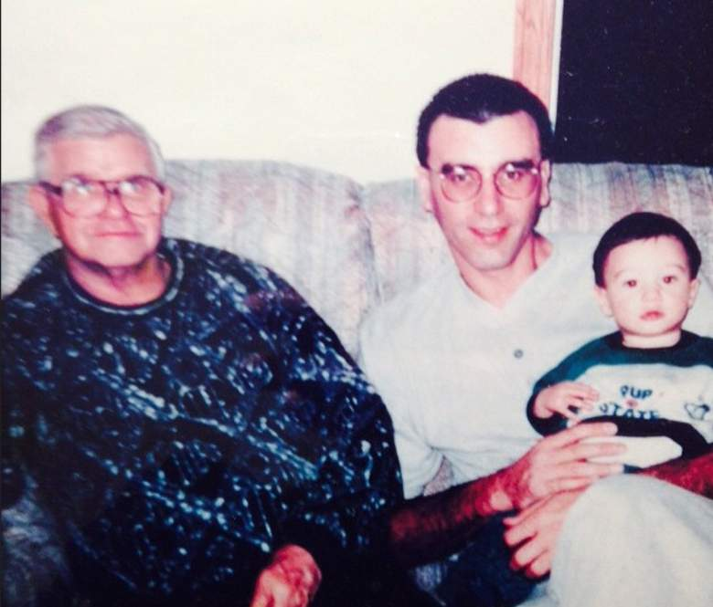Wisconsin's Frank Kaminsky as a baby with his father and grandfather. (Instagram/fskpart3)