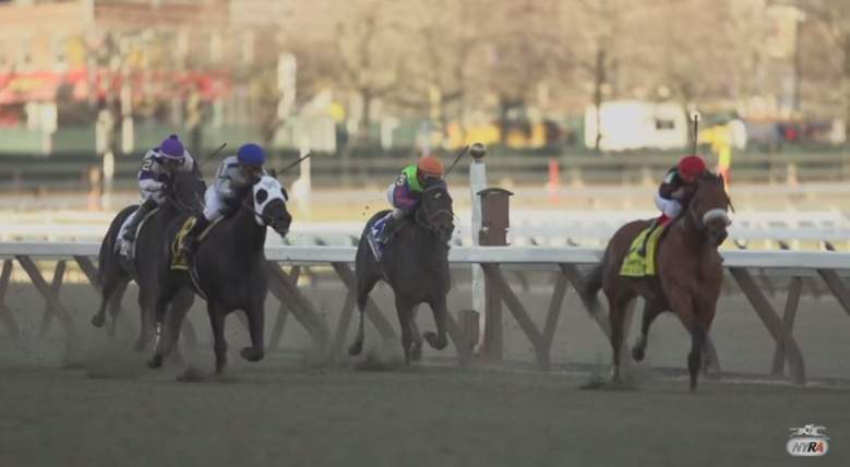 Aqueduct Racetrack is located in Jamaica, Queens, NY. (NYRA/YouTube)