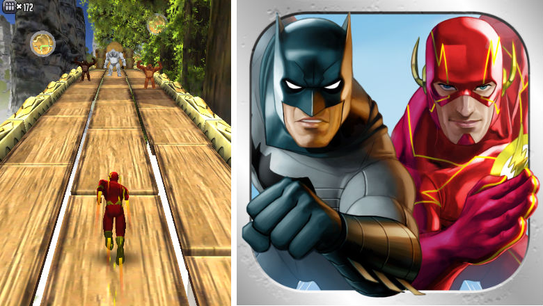 free racing games, new racing games, games for iphone, racing apps, Batman and the Flash Hero Run