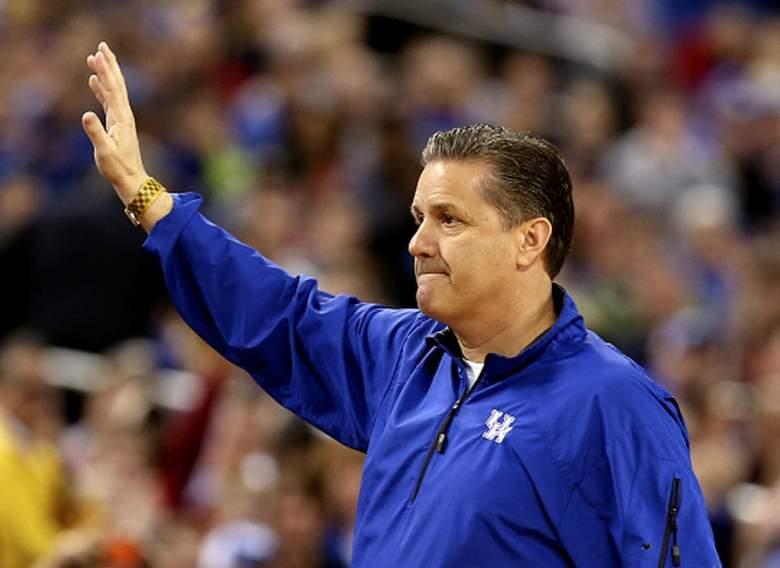 Kentucky head coach John Calipari during the Wildcats' 2015 Final Four practice. (Getty)