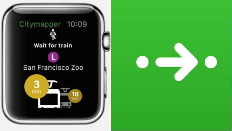 Apple Watch Maps, Citymapper Apps