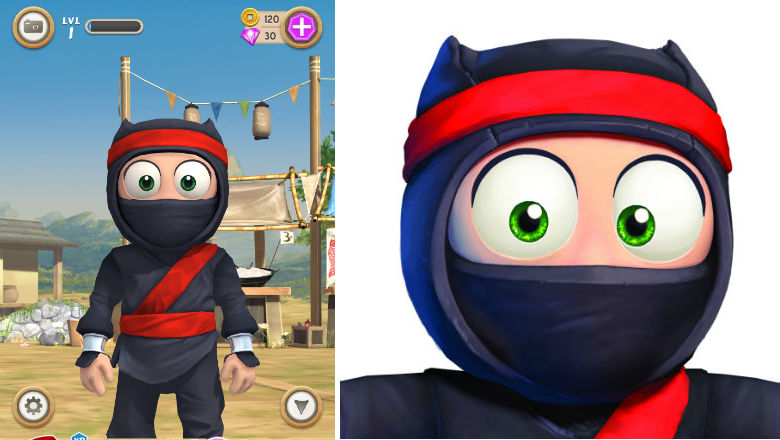 free kids apps, new kids games, iphone games for kids, Clumsy Ninja