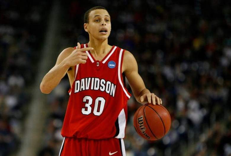 Golden State Warriors Stephen Curry during his career at Davidson College. (Getty)