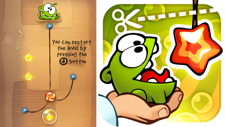 free kids games, new kids apps, iphone apps for kids, Cut the Rope