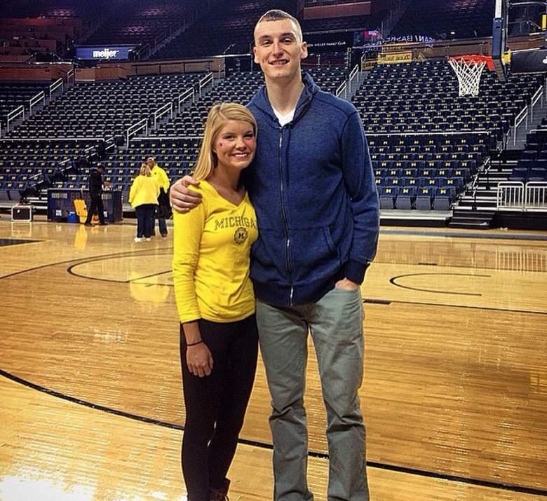 Wisconsin's Sam Dekker with girlfriend Bailey Scheich, who attends Michigan. (Instagram/baileyscheich)