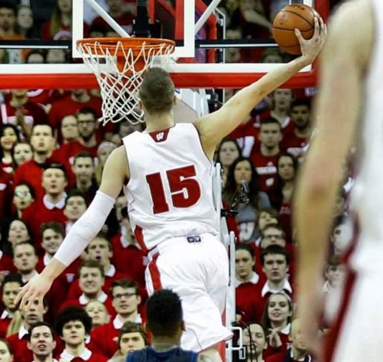 Wisconsin's Sam Dekker goes up for a dunk. (Instagram/samdek15)