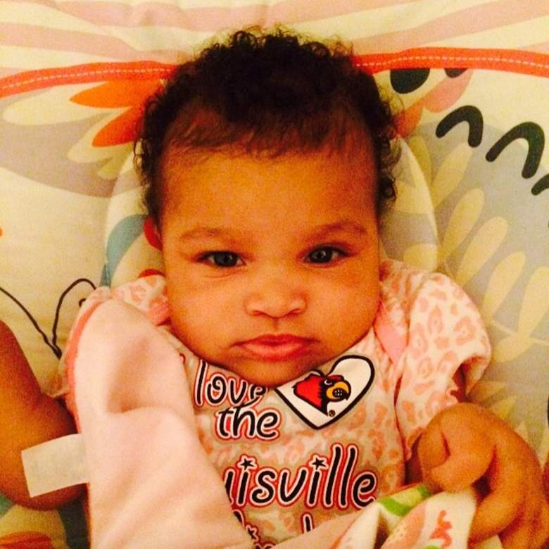 Louisville Cardinals wide receiver DeVante Parker's daughter. (Instagram/vante9)