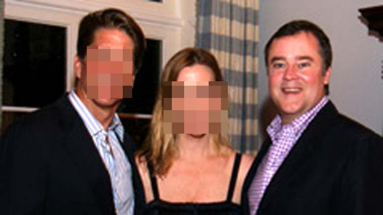 Burns pictured with fellow socialites in West Palm Beach. (Facebook)