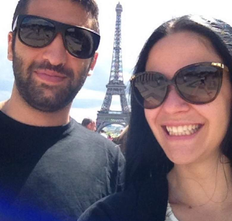Erin Calipari and husband Cody Siciliano in Paris. (Instagram/theerincalipari)