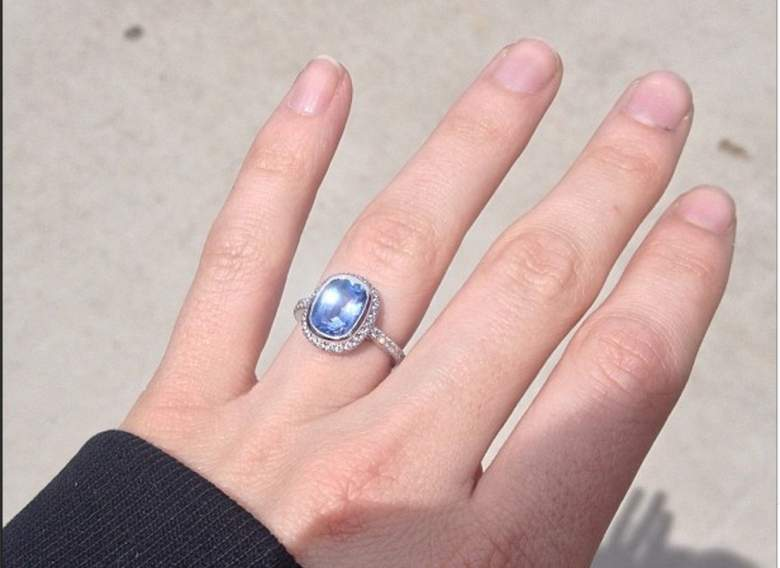 Erin Calipari's engagement ring. (Instagram/theerincalipari)
