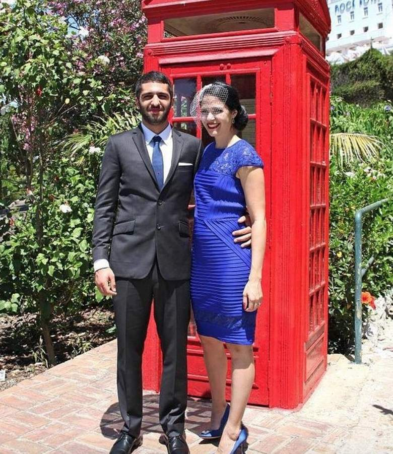 Erin Calipari and husband Cody Siciliano on their wedding day. (Instagram/theerincalipari)