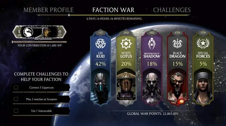 mortal kombat x faction war