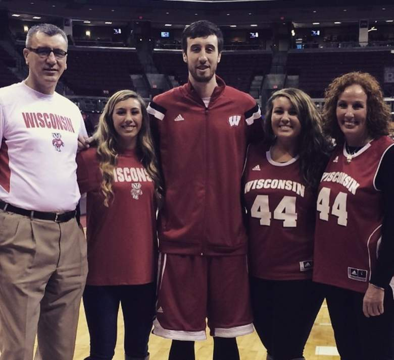 Wisconsin's Frank Kaminsky with his dad, sisters Hannah and Kaylee, and mom. (Instagram/fskpart3)