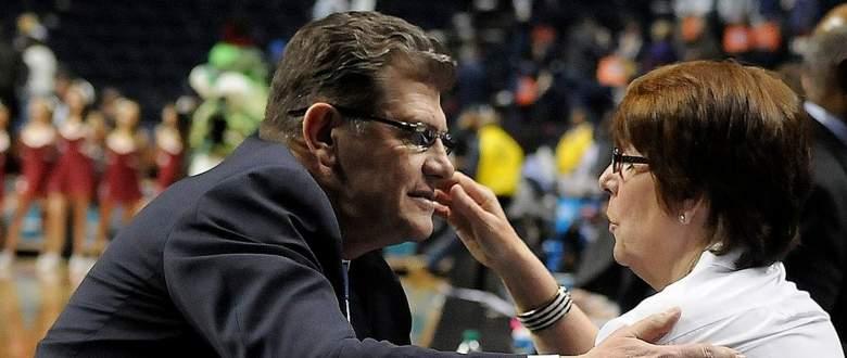 UConn women's coach Geno Auriemma with his wife Kathy. (Getty)