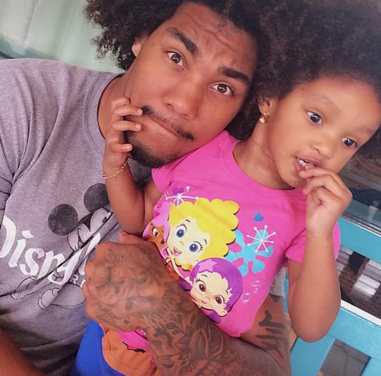 USC defensive end Leonard Williams with his 2-year-old daughter Leana. (Instagram/leonardwilliams)