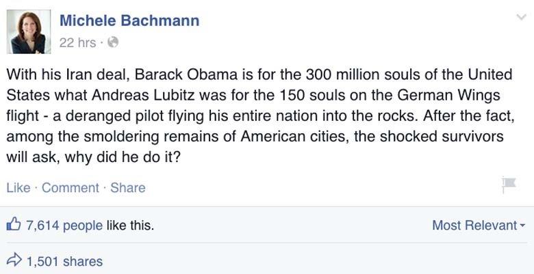 Michele Bachmann Facebook