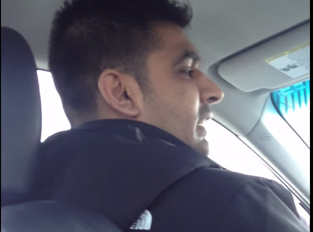 The Uber driver (YouTube screenshot)