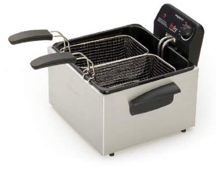 Presto 05466 Stainless Steel Dual Basket Pro Fry Immersion Element Deep Fryer, Presto 05466 deep fryer, Presto deep fryer, Presto stainless steel deep fryer