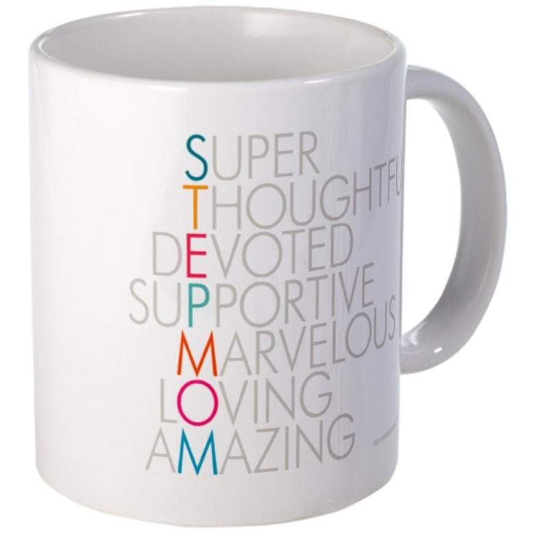 image of mug with an acrostic of the word stepmom