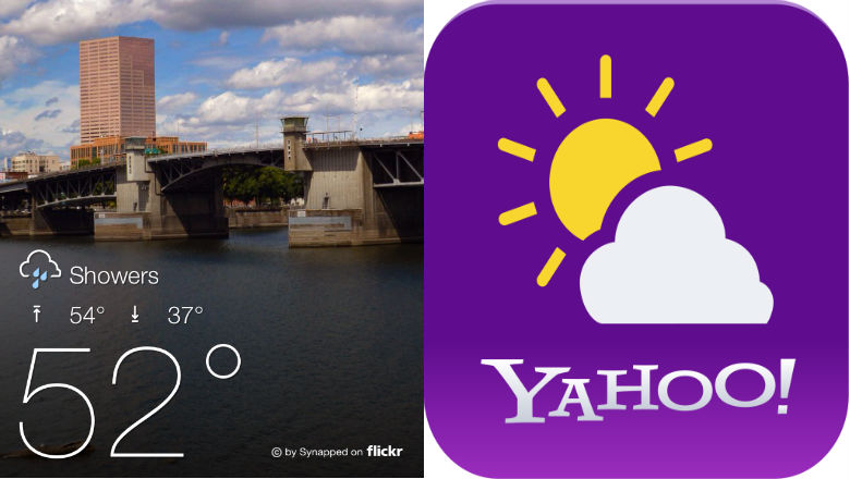 weather app, android apps, iphone apps, yahoo weather