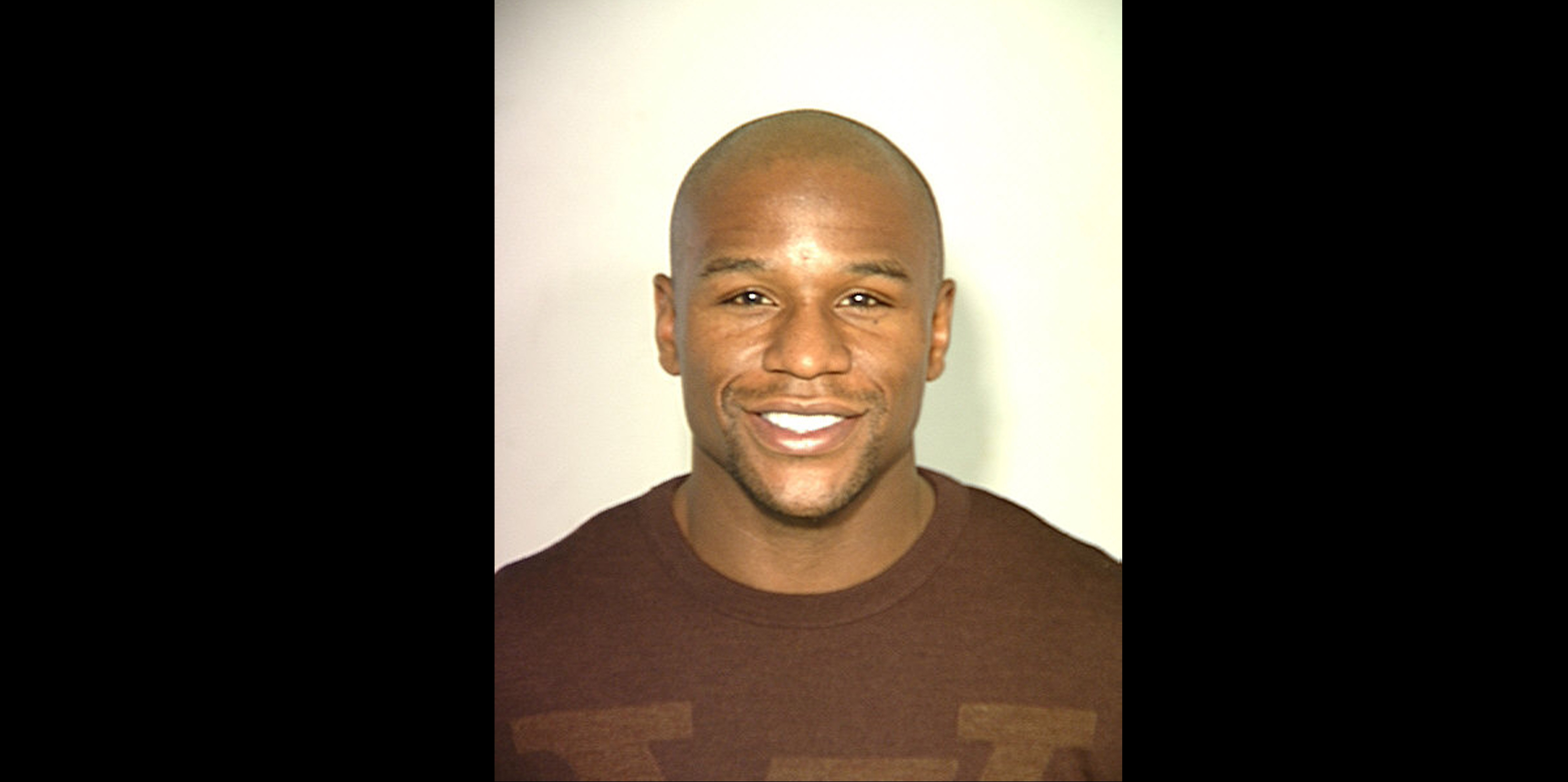 In this handout provided by the Las Vegas Police Department, boxer Floyd Mayweather Jr. poses for a mug shot in Las Vegas, Nevada.