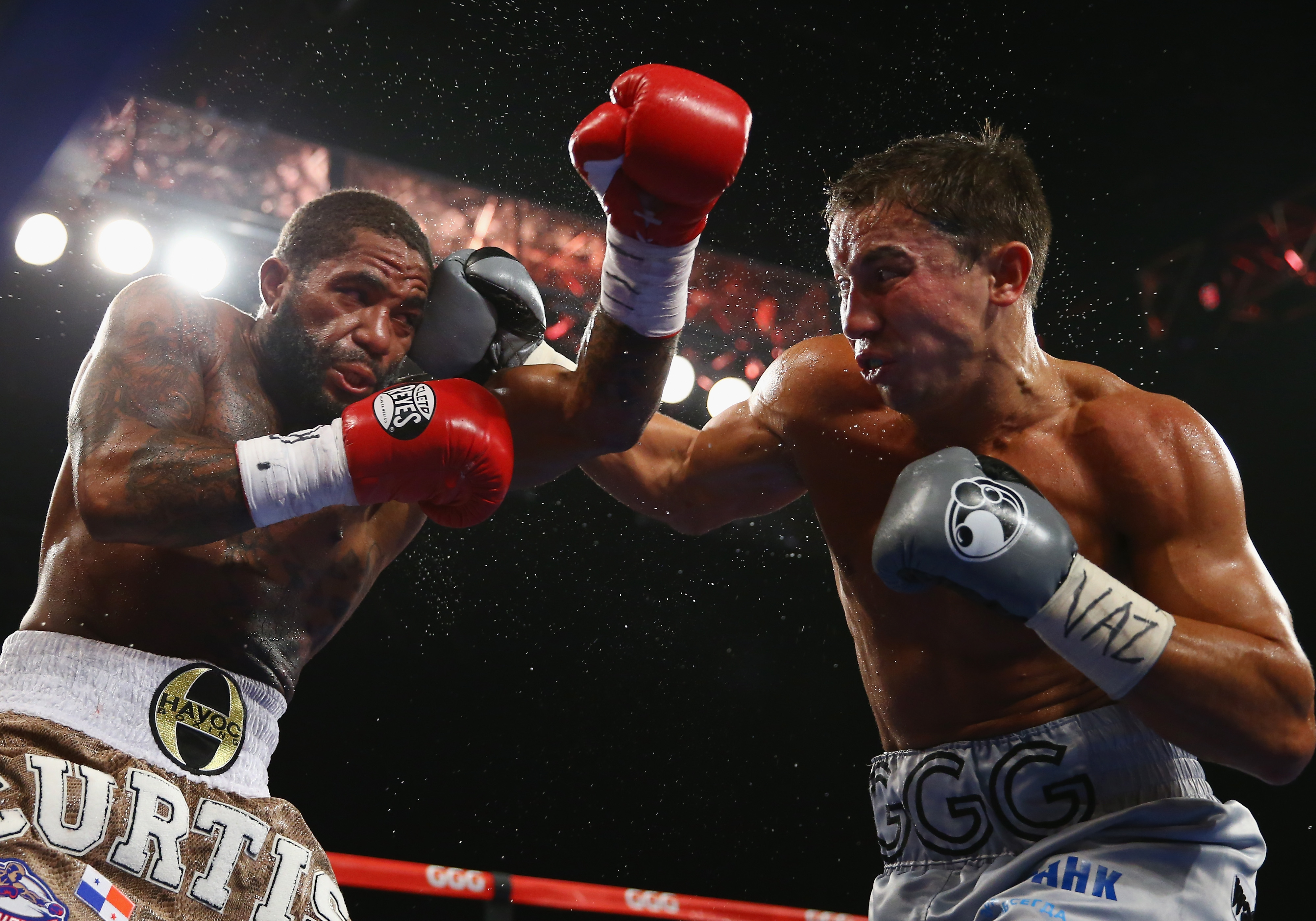 Gennady Golovkin punches Curtis Stevens during their WBA Middleweight Title fight at The Theater at Madison Square Garden on November 2, 2013 in New York City. (Getty)