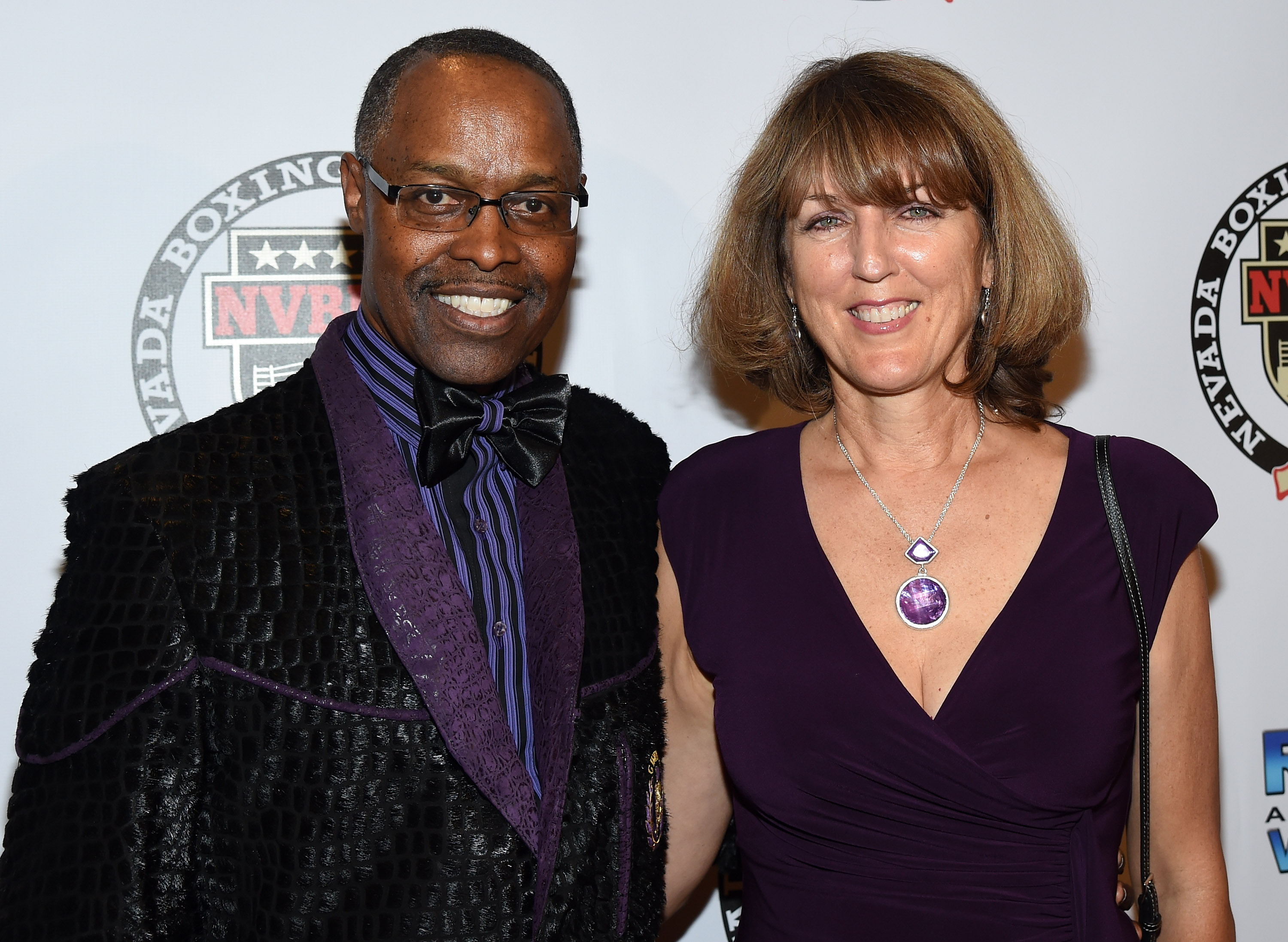 Kenny Bayless and his wife Lynora Bayless arrive at the second annual Nevada Boxing Hall of Fame induction gala. (Getty)
