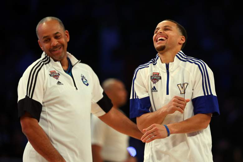 Dell Curry, now 50, has many lessons to pass to his MVP son. (Getty)