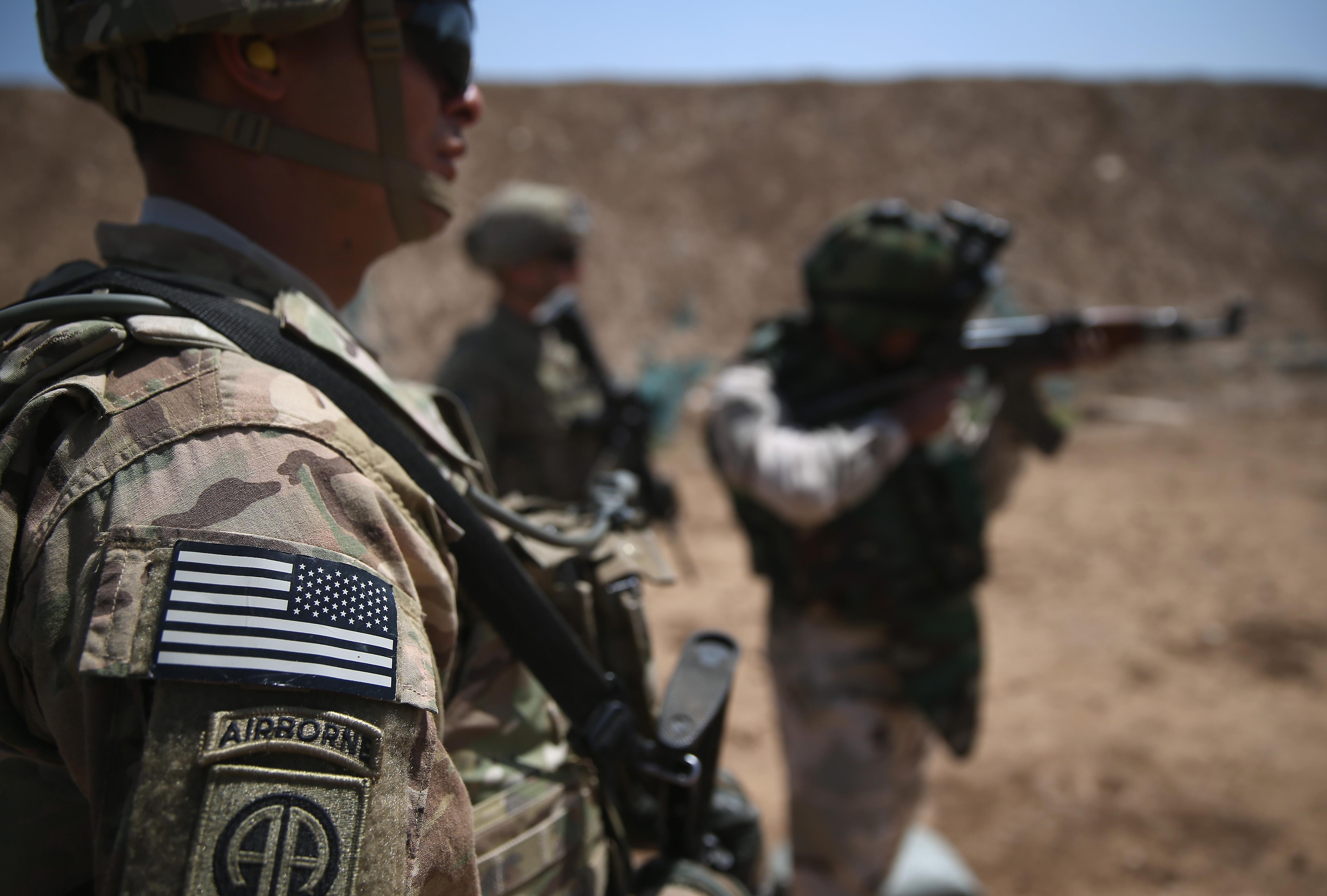 U.S. Army trainers in Iraq in April. (Getty)