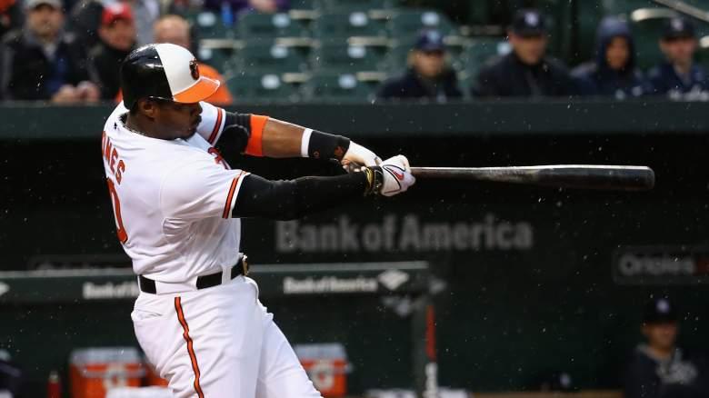 Orioles outfielder Adam Jones has had great success vs. Toronto starter Mark Buehrle. (Getty)