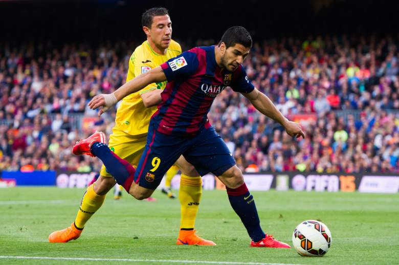 Luis Suarez R) will lead Barcelona at home against Bayern Munich. Getty)