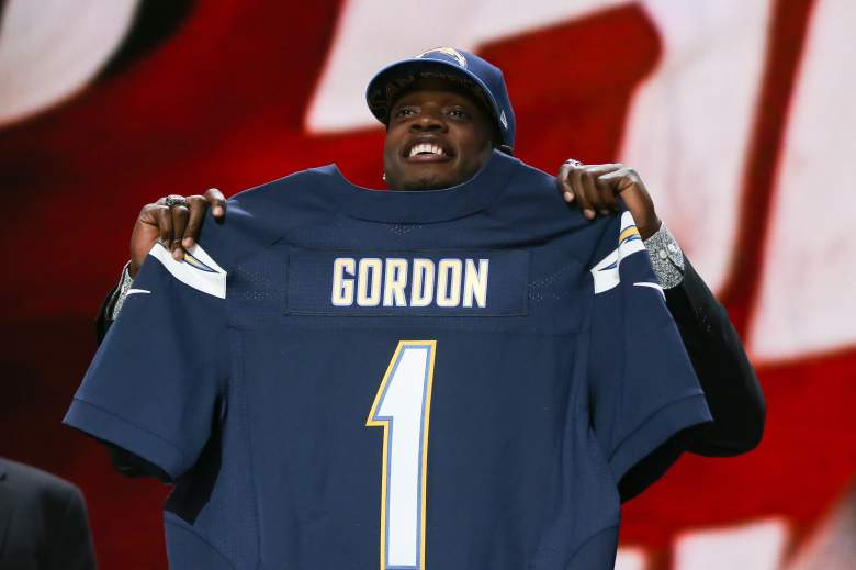 Chargers draft pick Melvin Gordon, a former running back at Wisconsin. (Getty)