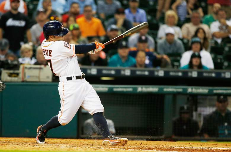 Astros second baseman Jose Altuve is on fire at the plate. (Getty)