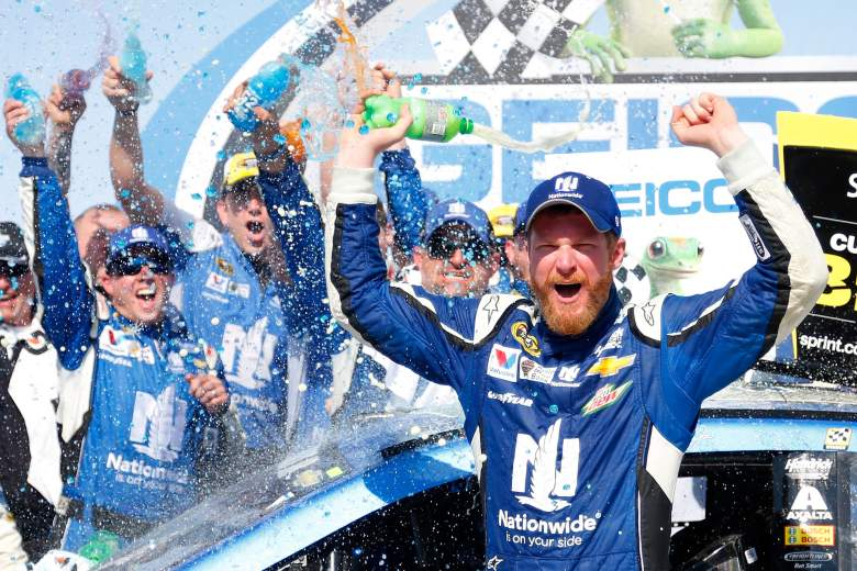 Dale Earnhardt Jr. won the Geico 500, his first victory at Talladega Superspeedway in 20 races. (Getty)