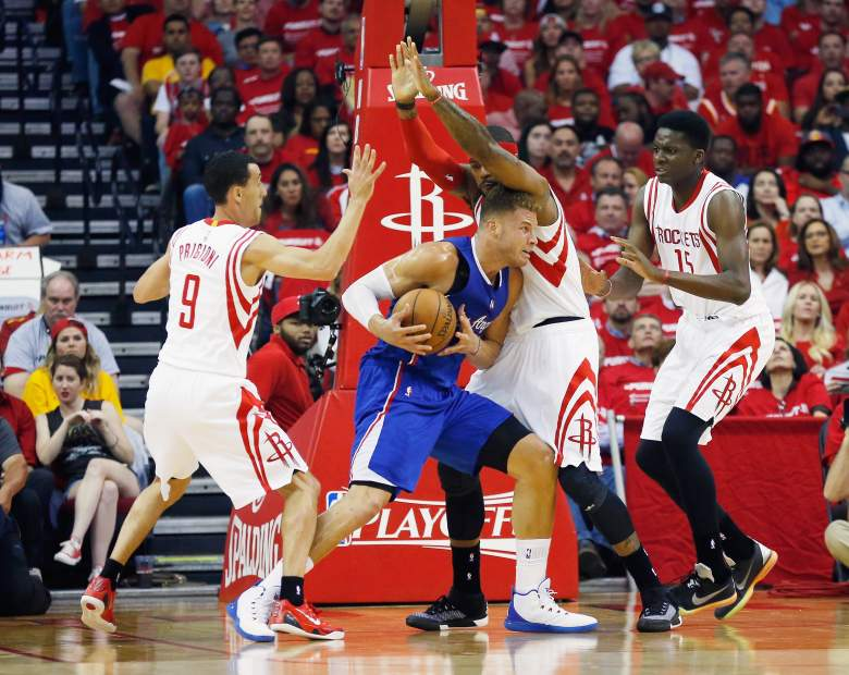 Blake Griffin posted a triple-double in Game 1. (Getty)