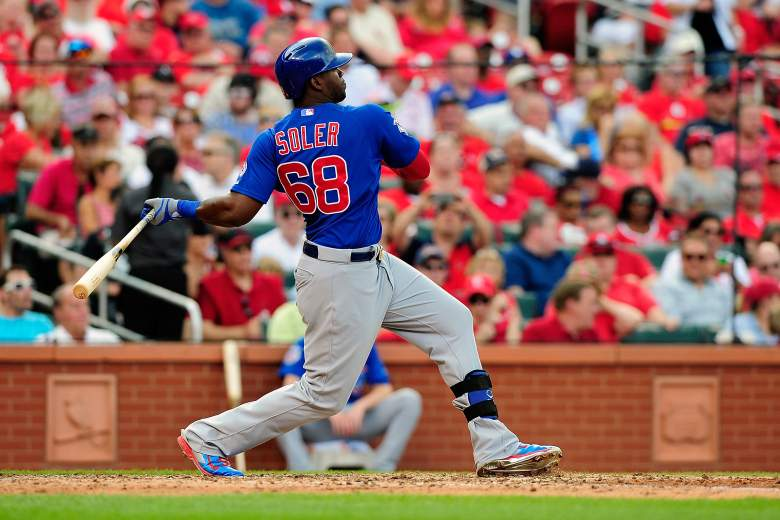 The Cubs' Jorge Soler blasts a double Friday. (Getty)