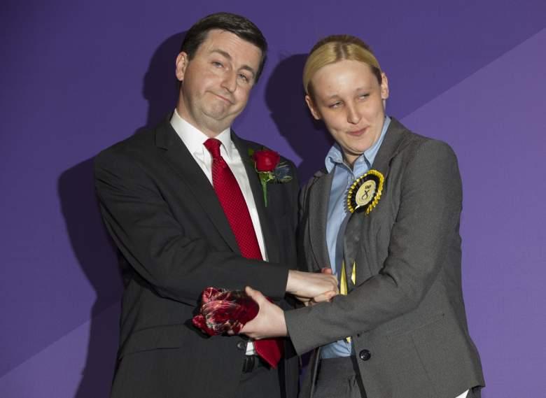 Black with Labour's Douglas Alexander (Getty)